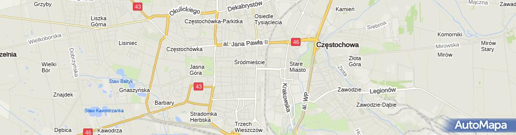 Zdjęcie satelitarne Agencja Rozwoju Regionalnego w Częstochowie
