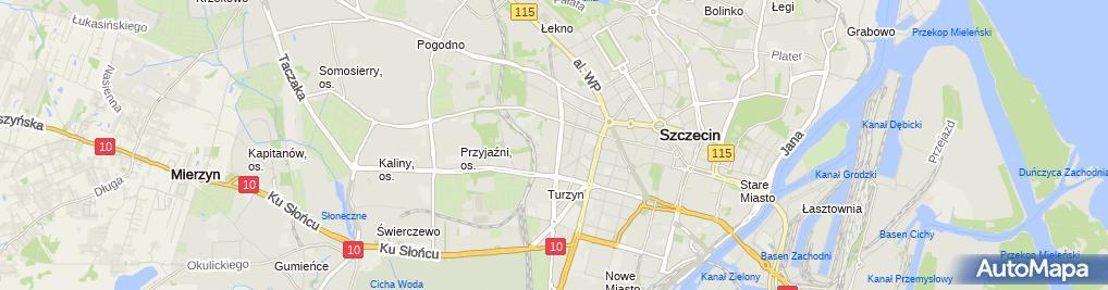 Zdjęcie satelitarne Agencja Ubezpieczeniowa Aldona Zaucha