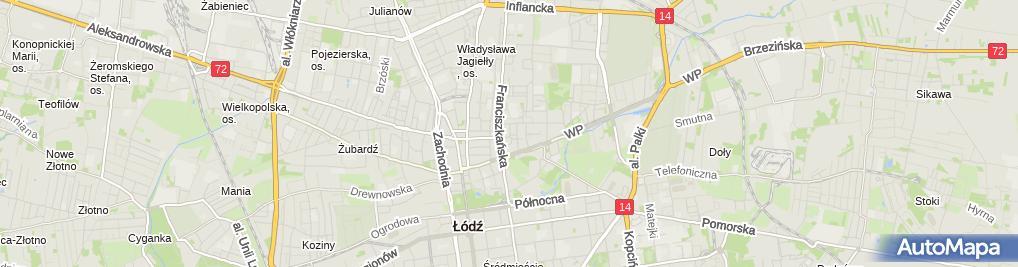 Zdjęcie satelitarne Agencja Ubezpieczeniowa Katarzyna Pawlicka