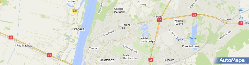 Zdjęcie satelitarne Agencja Ubezpieczeniowa Paweł Krasiński