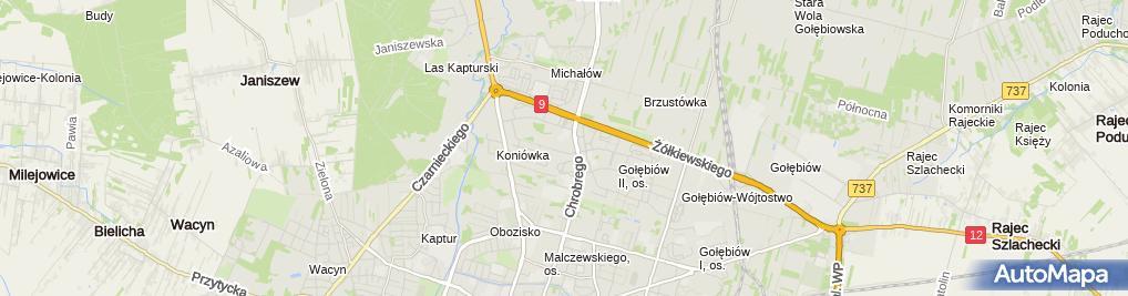 Zdjęcie satelitarne Agent Ubezpieczeniowy Antoni Malec
