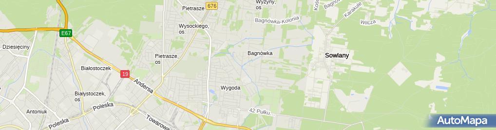 Zdjęcie satelitarne Agent Ubezpieczeniowy mgr.Stanisław Niedźwiecki