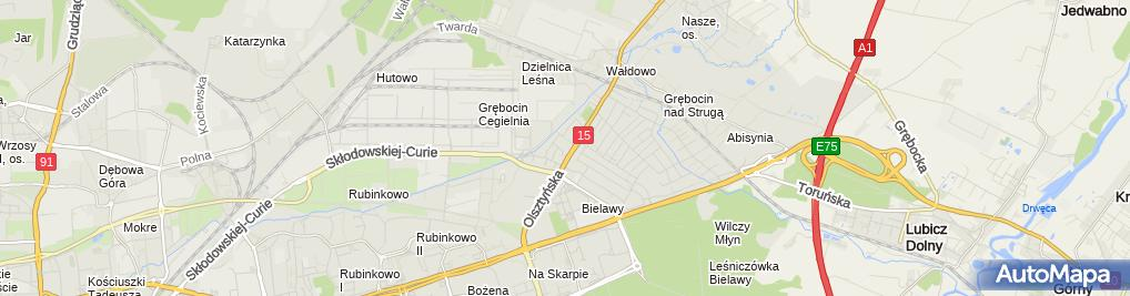 Zdjęcie satelitarne Agent Ubezpieczeniowy Nęcka Małgorzata