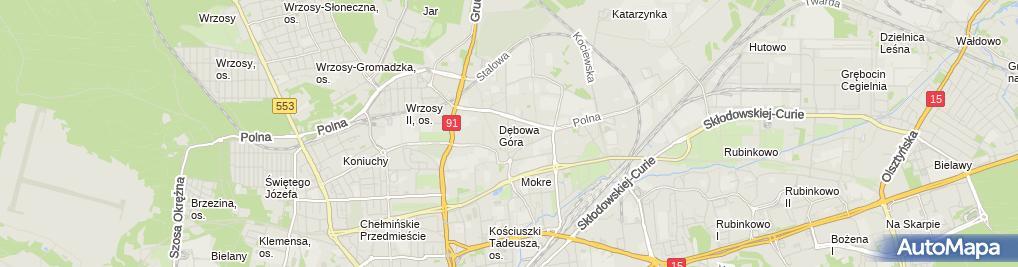 Zdjęcie satelitarne Agnieszka Obara Przedsiębiorstwo Handlowo Gastronomiczne - Agnieszka