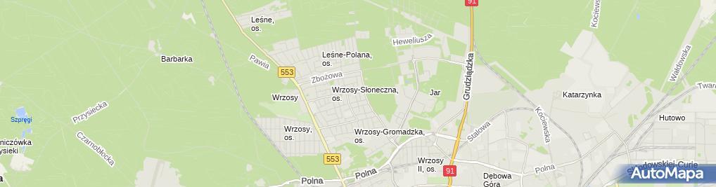 Zdjęcie satelitarne Aim Finanse Bankowość Ubezpieczenia NieruchomościŁusiak Mirosław