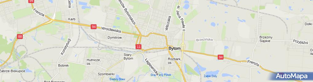 Zdjęcie satelitarne AIP Bytom