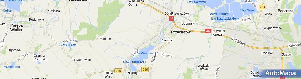 Zdjęcie satelitarne AIR NET Mariusz Kajdas Tomasz Pyrek Spółka Jawna