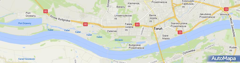 Zdjęcie satelitarne Akademicki Instytut Nauczania Omega Chmielewski Marcin Okryński Daniel