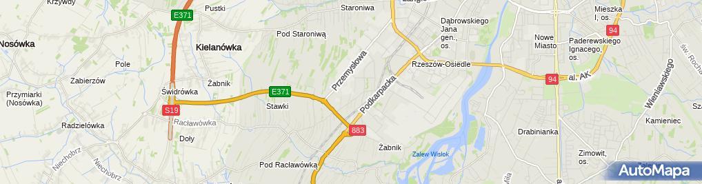 Zdjęcie satelitarne Akar Instal Rzeszów