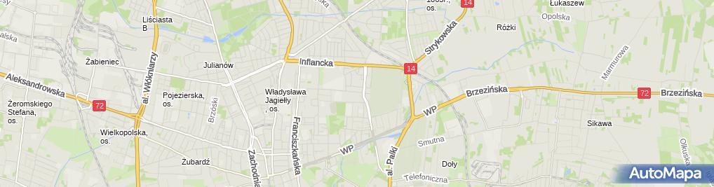 Zdjęcie satelitarne ALE Ogród