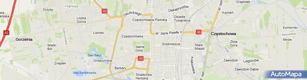 Zdjęcie satelitarne Alicja Bawor Niepubliczny Zakład Opieki Zdrowotnej Oculistica