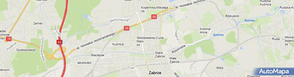 Zdjęcie satelitarne Alina Gaca Przedsiębiorstwo Transportowo-Handlowo-Usługowe Fol-Max