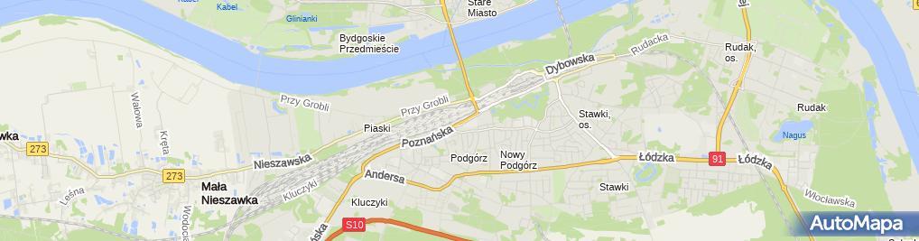 Zdjęcie satelitarne All Cars Przemysław Szutta Jacek Szatkowski