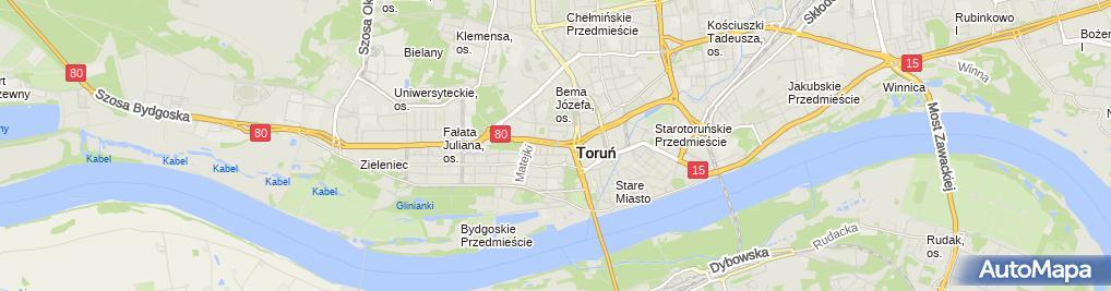Zdjęcie satelitarne Almet Angowska Alina Przygocki Mieczysław