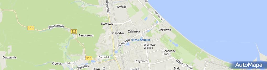 Zdjęcie satelitarne Amk Konrad Woszczak
