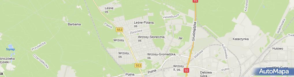 Zdjęcie satelitarne Amplus Projektowanie i Wykonawstwo w Budownictwie Dziemecki Krzysztof