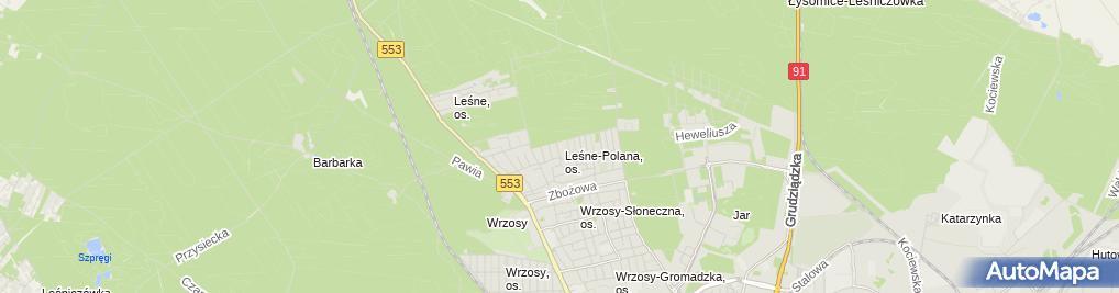 Zdjęcie satelitarne Analizy Biznesowe Marta Kasikowska