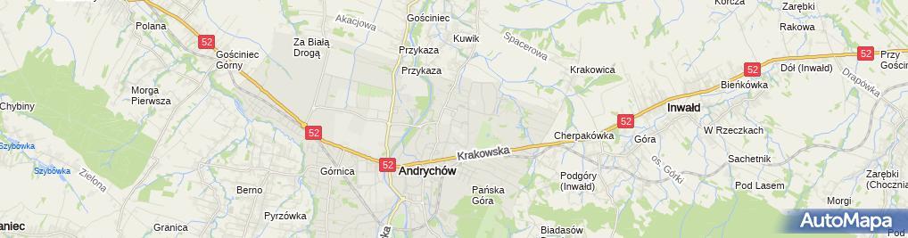 Zdjęcie satelitarne Andrychowska Spółdzielnia Mieszkaniowa