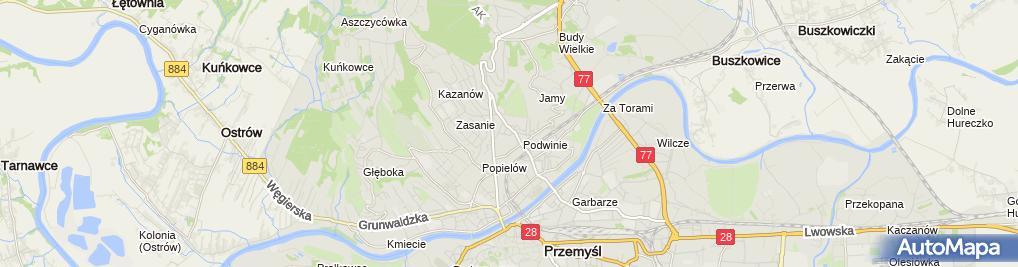 Zdjęcie satelitarne Andrzej Ciochoń Piekarnia Kłos