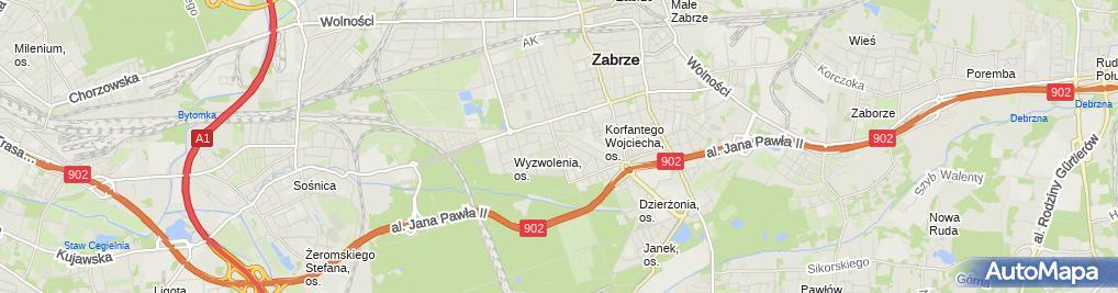 Zdjęcie satelitarne Andrzej Kasperek Firma Usługowa Punkt 21 G & A Kasperek