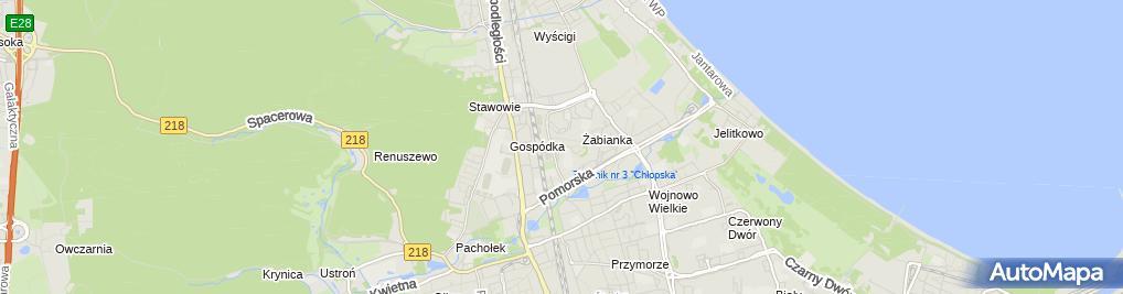 Zdjęcie satelitarne Andrzej Mosiewicz - Działalność Gospodarcza