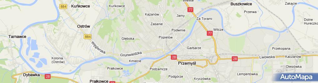 Zdjęcie satelitarne Andrzej Pryjda Infrastruktura