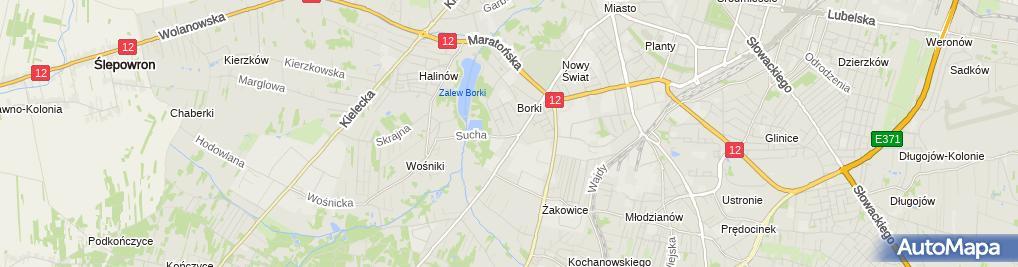 Zdjęcie satelitarne Andrzej Sierpiński - Działalność Gospodarcza