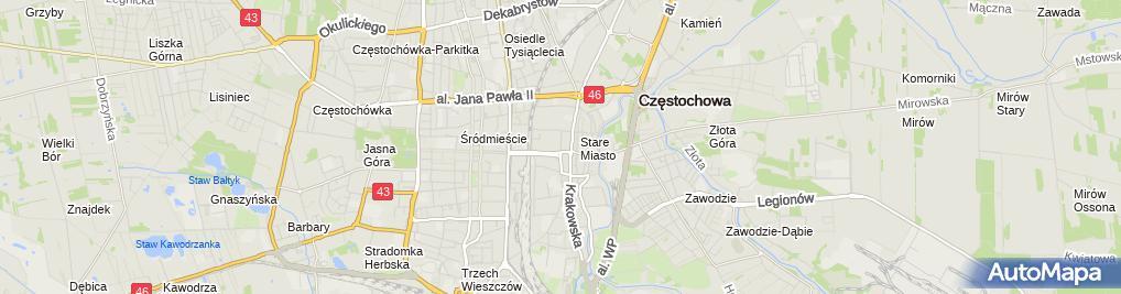 Zdjęcie satelitarne Andrzej Ślęzak Firma Handlowo-Usługowa Saltus