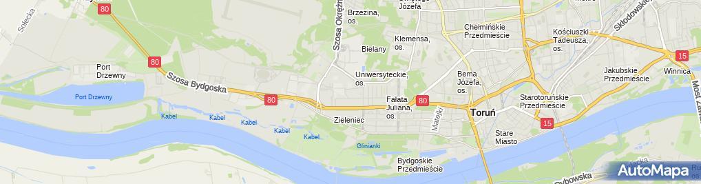 Zdjęcie satelitarne Anna Bialik - Działalność Gospodarcza