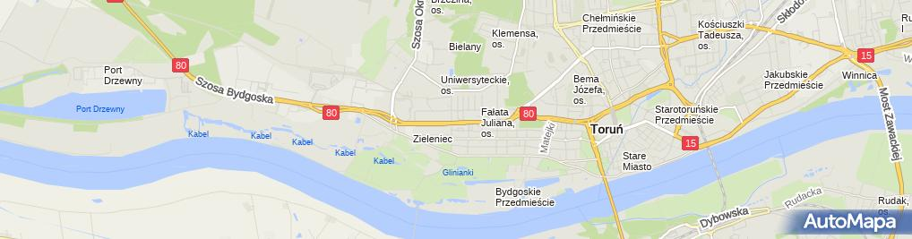 Zdjęcie satelitarne Anna Błaszak - Działalność Gospodarcza