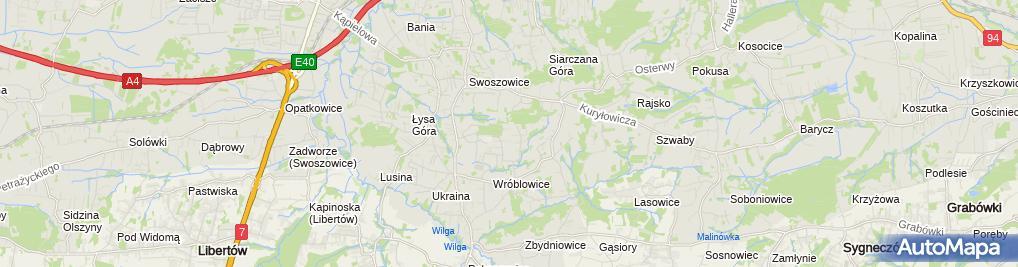 Zdjęcie satelitarne Anna Majak-Madej Zakład Diagnostyki Samochodowej