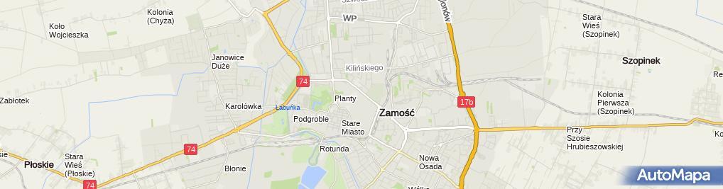 Zdjęcie satelitarne Anna Mazur - Działalność Gospodarcza