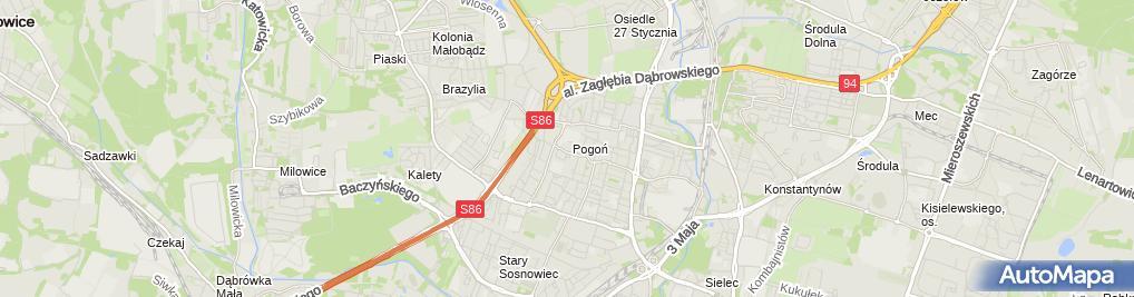 Zdjęcie satelitarne Antonina Kochalska - Działalność Gospodarcza