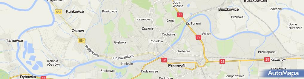 Zdjęcie satelitarne Archiwum Państwowe w Przemyślu