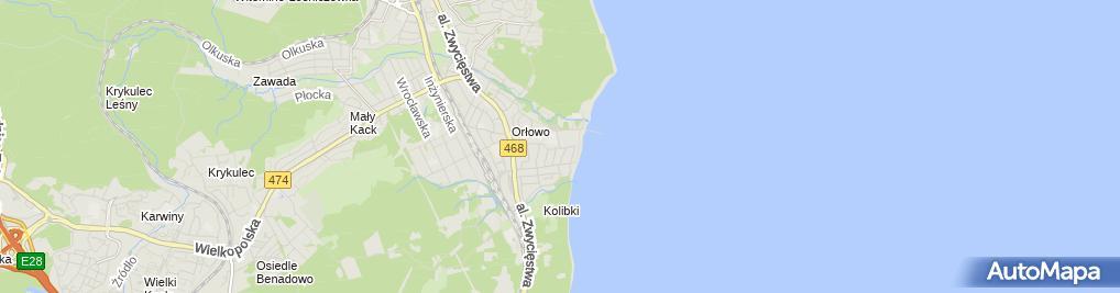 Zdjęcie satelitarne Arkadiusz Knitter - Działalność Gospodarcza