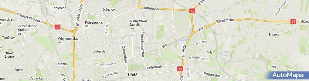 Zdjęcie satelitarne Arkadiusz Rudziński P.P.H.U.Inter-Wams Stanisław Bujnicki, Marek Jagusiak, Arkadiusz Rudziński, Marcin Rudziński