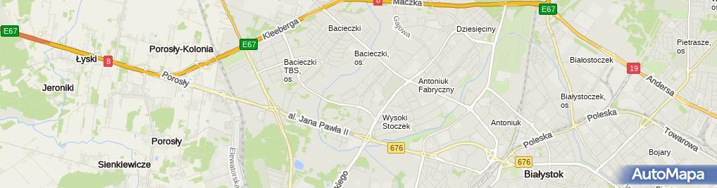Zdjęcie satelitarne ArtS Dystrybucja Artur Sokołowski