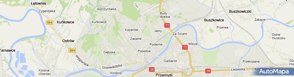 Zdjęcie satelitarne Artur Kurcz Zakład Remontowo-Budowlany