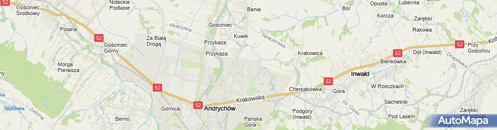 Zdjęcie satelitarne Artur Kwieciński - Działalność Gospodarcza