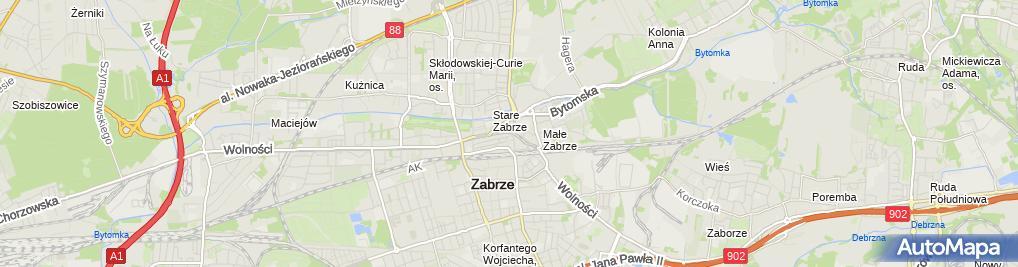 Zdjęcie satelitarne Artykuły Wielobranżowe Irena Izdebska Marianna Kądziela
