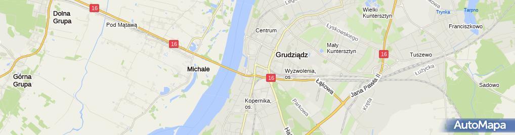 Zdjęcie satelitarne As sc. Tomasz Pawłowski Hanna Pawłowska