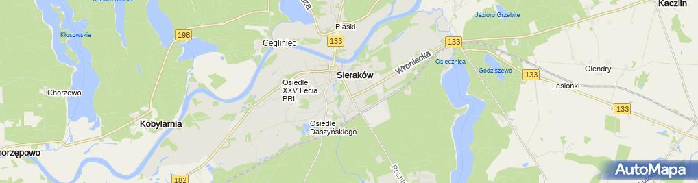 Zdjęcie satelitarne Aśka Suknie Ślubne Mariusz Kwiatkowski