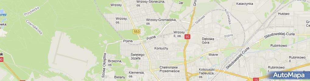 Zdjęcie satelitarne Atel Automatyka Tadeusz Dudkiewicz