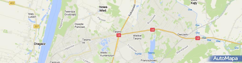 Zdjęcie satelitarne Auto - Handel Usługi Transportowe Marek Lewandowski