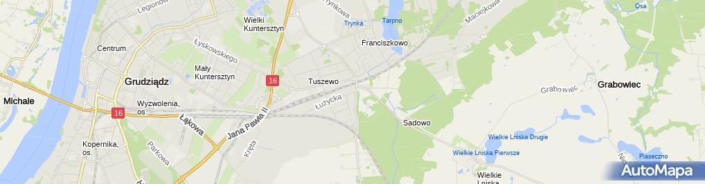 Zdjęcie satelitarne Auto Handel