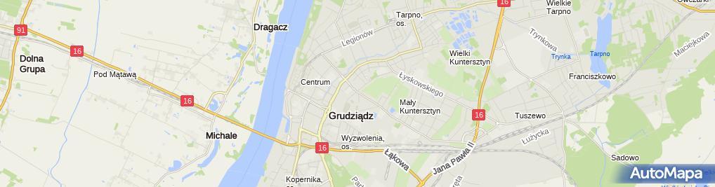 """Zdjęcie satelitarne """"Auto i Ty"""" Bielewicz Czesław"""