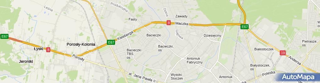 Zdjęcie satelitarne Auto Kemar Krzysztof Kożuchowski