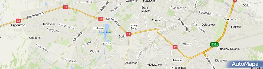 Zdjęcie satelitarne Auto Park Przeds Produkcyjno Handlowo Usługowe z Bujak M Bujak