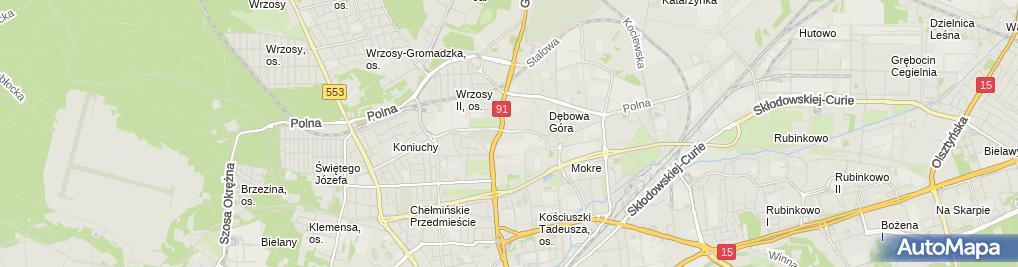Zdjęcie satelitarne Auto-Serwis Zbigniew Kędzierski