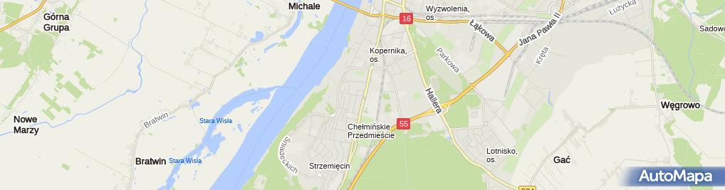 Zdjęcie satelitarne Automet Kazimierz Sadowski